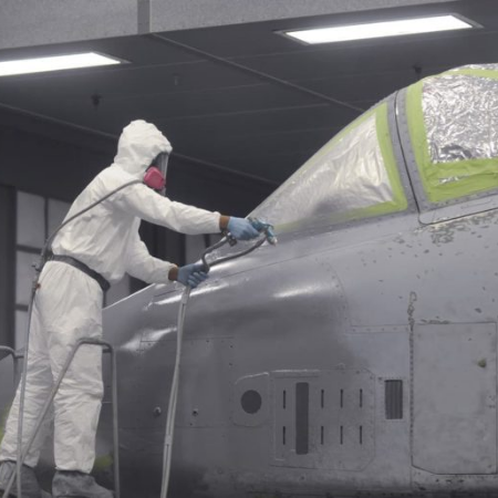 painting a plane